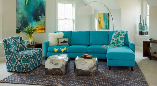 Mavi Renkli Modern Köşe Koltuk Takımları