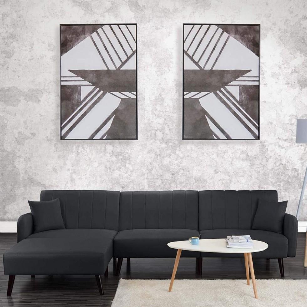 Şezlonglu Modern L Şekilli Köşe Koltuk Modern Futon Yataklı Köşe