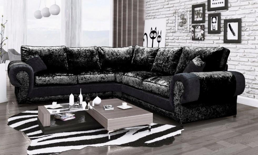 Siyah Lüks Köşe Koltuk Takımı Modeller Özel Tasarım Köşe Koltuklar