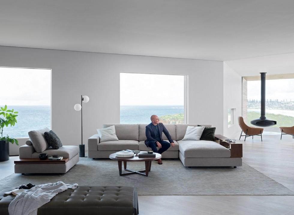 Kodu: 8110 - Amerikan Modern Salon Tasarımı Köşe Koltuk Takımı