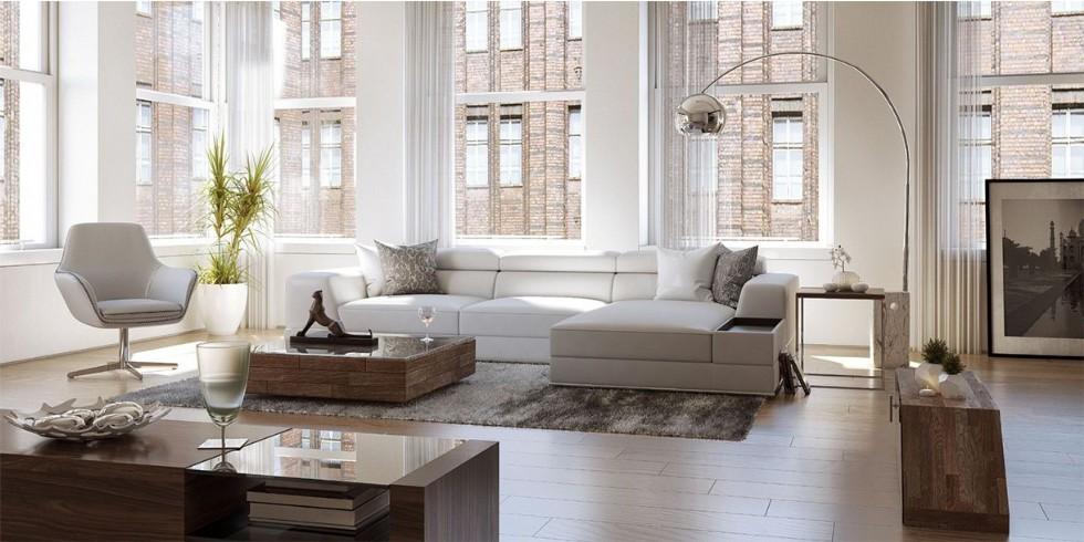 Kodu: 2595 - Beyaz Modern Salon Köşe Takımı Luxury Modern