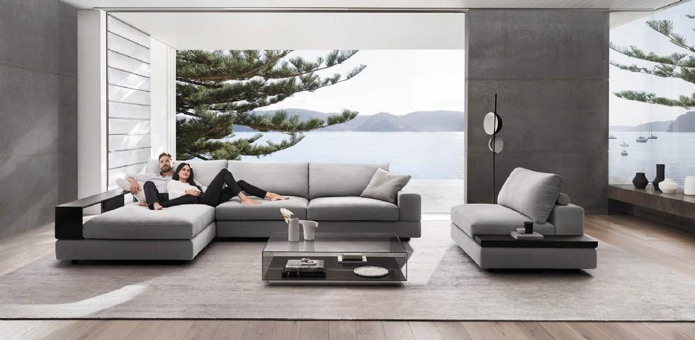 Kodu: 2597 - Modern Salon Tasarımı Lüx Köşe Koltuk Takımı