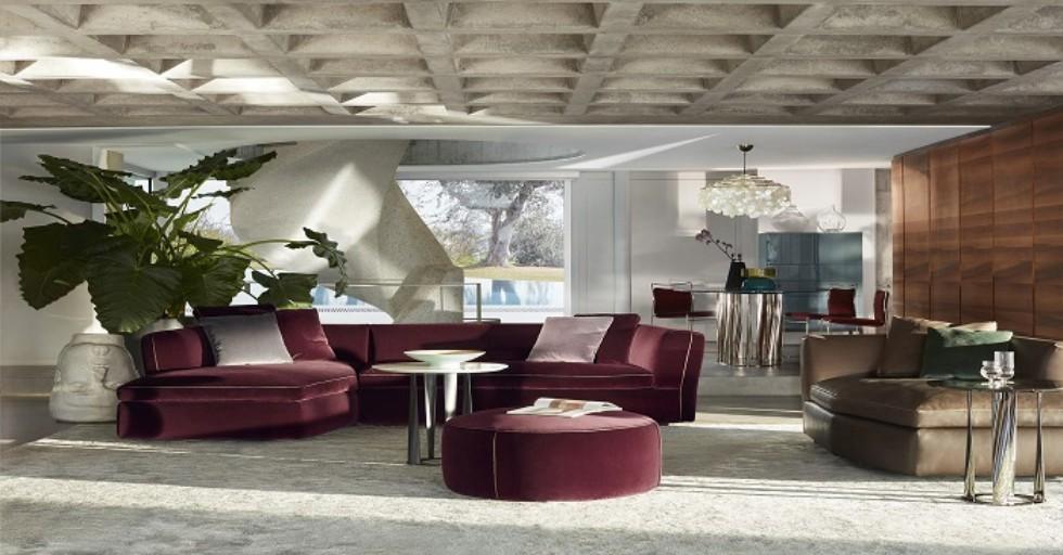 Kodu: 2596 - Mor Bordo Luxury Modern Salon Köşe Koltuk Takımı