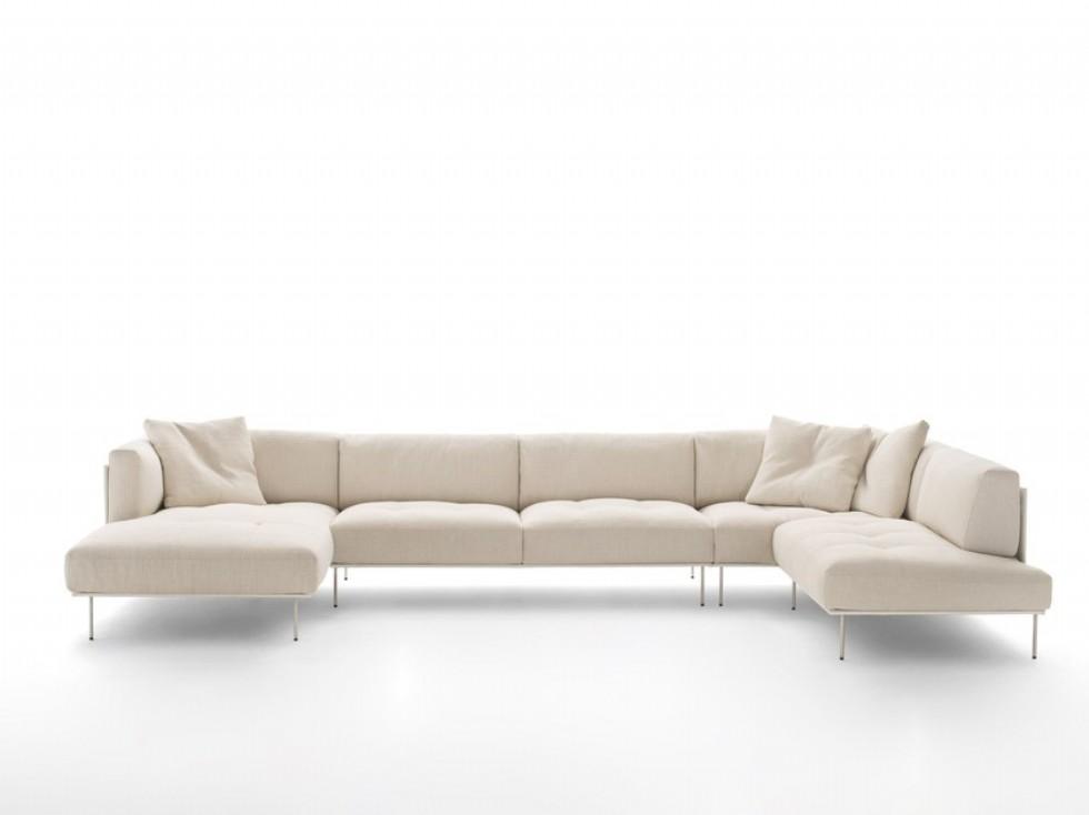 Kodu: 3208 - Salon U Modern Köşe Koltuk Takımı Beyaz Renk