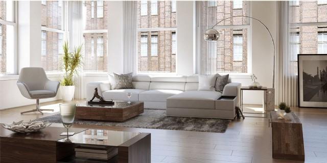 Beyaz Modern Salon Köşe Takımı Luxury Modern