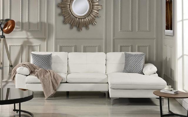 Köşe Koltuk Takımı Modern Tasarım Beyaz Renkli