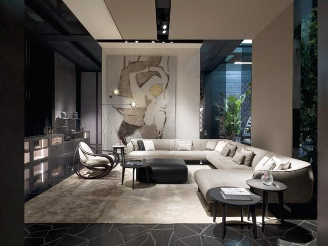 Lüks Modern Salon Tasarımı Köşe Koltuk Takımı