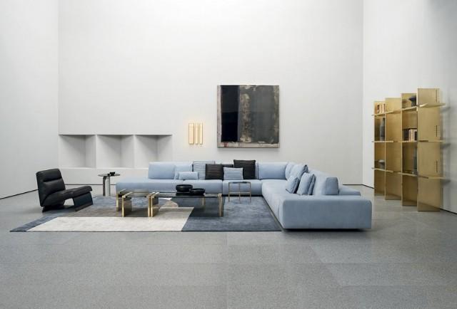 Modern Salon Dekorasyonu Köşe Koltuk Takımı