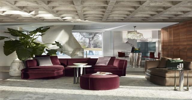 Mor Bordo Luxury Modern Salon Köşe Koltuk Takımı