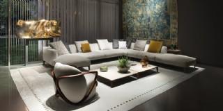 Modern Lüks Salon Tasarımı Köşe Koltuk Takımı Rahat Konfor Dekorasyon